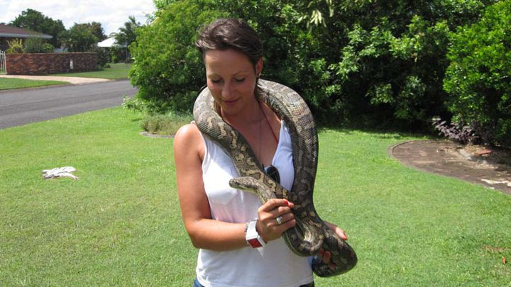 lady with snake